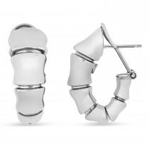 Clip Back Earrings 18k White Gold