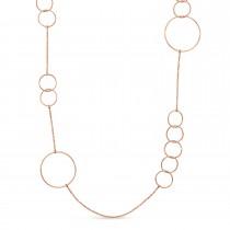 Multi-Circle Fancy Necklace 18k Rose Gold