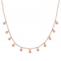 Fancy Spheres Necklace 18k Rose Gold
