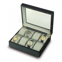 Rapport London The Venice Ebony Wood, 8 Watch Display Box