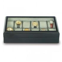 Rapport London The Venice Ebony Wood, 8 Watch Display Box