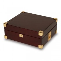 Rapport London Captain's Collector 8 Watch Box, Polished Mahogany
