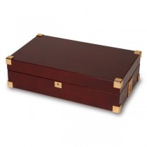 Rapport London Captain's Collector 12 Watch Box, Polished Mahogany