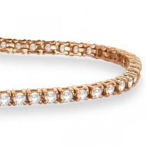 Eternity Diamond Tennis Bracelet 14k Rose Gold (3.00ct)|escape