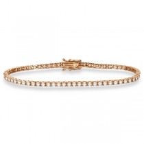 Eternity Diamond Tennis Bracelet 14k Rose Gold (3.51ct)