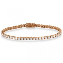 Eternity Diamond Tennis Bracelet 14k Rose Gold (4.13ct)