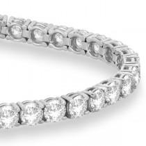 Eternity Diamond Tennis Bracelet 14k White Gold (10.01ct)