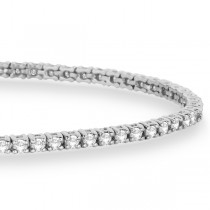 Eternity Diamond Tennis Bracelet 14k White Gold (2.10ct)|escape