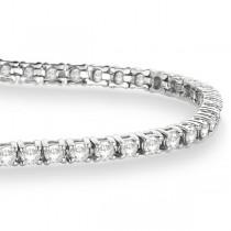 Eternity Diamond Tennis Bracelet 14k White Gold (3.51ct)