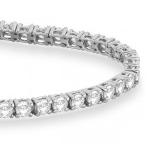 Eternity Diamond Tennis Bracelet 14k White Gold (4.13ct)|escape
