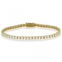 Eternity Diamond Tennis Bracelet 14k Yellow Gold (5.51ct)