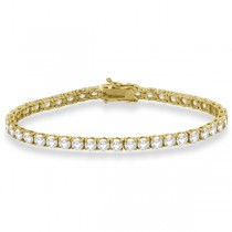 Eternity Diamond Tennis Bracelet 14k Yellow Gold (10.01ct)