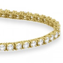 Eternity Diamond Tennis Bracelet 14k Yellow Gold (4.13ct)