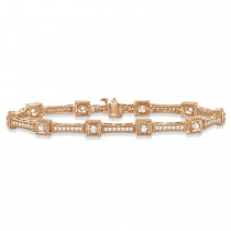 Vintage Diamond Tennis Bracelet 14k Rose Gold (1.51ct)