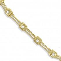 Vintage Diamond Tennis Bracelet 14k Yellow Gold (1.51ct)