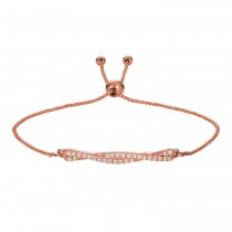 Flexible Bolo Twisted Diamond Bracelet 14k Rose Gold (0.25ct)
