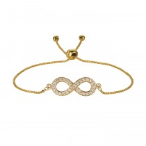 Bolo Diamond Infinity Adjustable Bracelet 14k Yellow Gold (0.25ct)