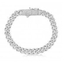 Diamond Link Chain Bracelet 14k White Gold (5.00ct)