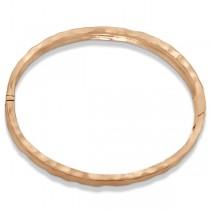 Hammered Stackable Bangle for Women in 14k Rose Gold