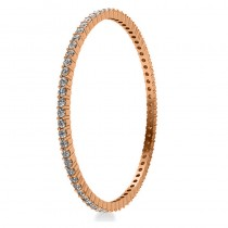 Stackable Diamond Bangle Eternity Bracelet 14k Rose Gold (7.00ct)