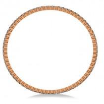 Stackable Diamond Bangle Eternity Bracelet 14k Rose Gold (7.00ct)