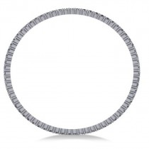 Stackable Diamond Bangle Eternity Bracelet 14K White Gold (7.00ct)