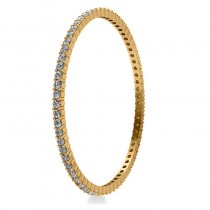 Stackable Diamond Bangle Eternity Bracelet 14k Yellow Gold (7.00ct)