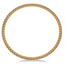 Stackable Diamond Bangle Eternity Bracelet 14k Yellow Gold (7.00ct)