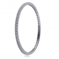 Stackable Diamond Bangle Eternity Bracelet 18K White Gold (7.00ct)