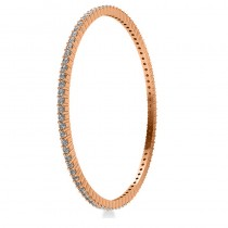 Stackable Diamond Bangle Eternity Bracelet 14k Rose Gold (4.20ct)