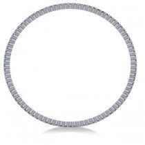 Stackable Diamond Bangle Eternity Bracelet 14K White Gold (4.20ct)