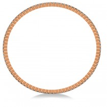 Stackable Diamond Bangle Eternity Bracelet 18k Rose Gold (4.20ct)|escape