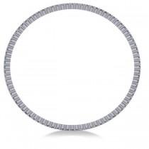 Stackable Diamond Bangle Eternity Bracelet 18K White Gold (4.20ct)