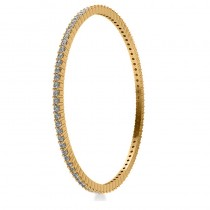 Stackable Diamond Bangle Eternity Bracelet 18k Yellow Gold (4.20ct)