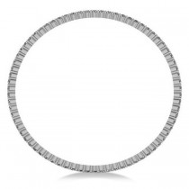 Stackable Diamond Bangle Eternity Bracelet 14K White Gold (5.18ct)