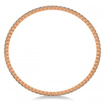 Stackable Diamond Bangle Eternity Bracelet 18k Rose Gold (5.18ct)