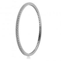 Stackable Diamond Bangle Eternity Bracelet 18K White Gold (5.18ct)