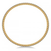 Stackable Diamond Bangle Eternity Bracelet 18k Yellow Gold (5.18ct)
