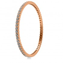 Stackable Diamond Bangle Eternity Bracelet 14k Rose Gold (9.00ct)