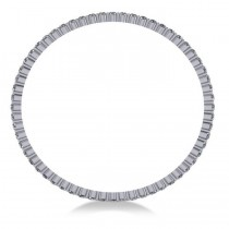 Stackable Diamond Bangle Eternity Bracelet 14K White Gold (9.00ct)