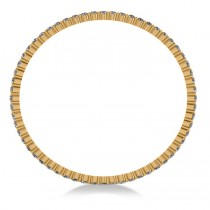 Stackable Diamond Bangle Eternity Bracelet 14k Yellow Gold (9.00ct)