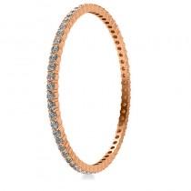 Stackable Diamond Bangle Eternity Bracelet 18k Rose Gold (9.00ct)
