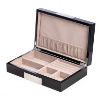 Wood Valet Box w/ Stainless Steel Accents and Compartments