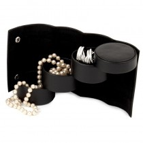 Leatherette 3 Level Jewelry Roll with Snap Closure
