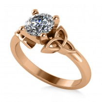 Celtic Love Knot Solitaire Engagement Ring Setting 14k Rose Gold