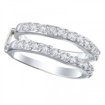 Diamond Ring Guard Enhancer for Women 14k White Gold 0.72ct