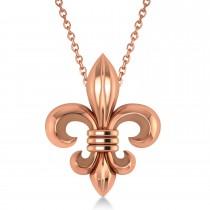 Fleur De Lis Pendant Necklace 14k Rose Gold