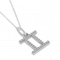 Gemini Zodiac Diamond Pendant Necklace 14k White Gold (0.15ct)