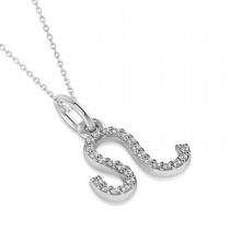 Leo Zodiac Diamond Pendant Necklace 14k White Gold (0.125ct)