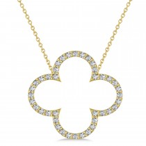 Diamond Clover Pendant Necklace 14K Yellow Gold (0.40ct)